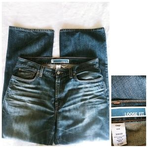 Gap 33x30 high rise boot loose fit med wash jeans